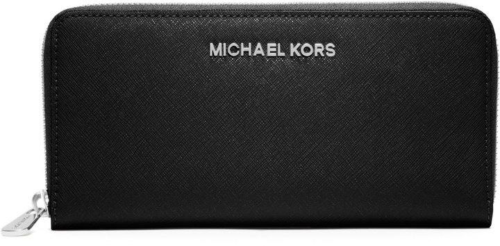 MICHAEL Michael Kors Jet Set Travel Continental Wallet, Black