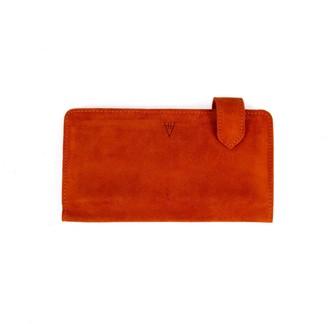 Hiva Atelier Fluctus Suede Wallet Orange