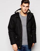 Esprit Parka With Borg Lined Hood - Black