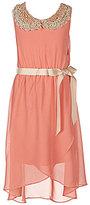 Soprano Big Girls 7-16 Lace-Collared High-Low Hem Dress