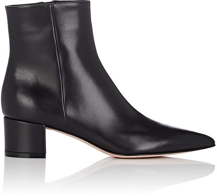 Gianvito Rossi Women's Block-Heel Leather Ankle Boots