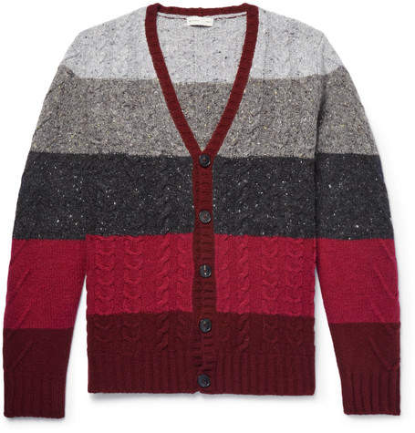 Etro Striped Wool And Cashmere-Blend Cardigan