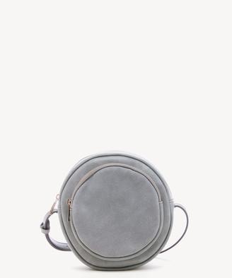 Sole Society Women's Jamari Crossbody Bag Suede Grey Fuax Leather From