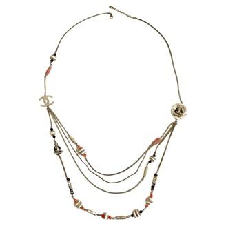 Chanel Beige Metal Long necklaces