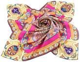 Grace Scarves 100% Silk Scarf, Large, Divine Mandala Sunburst, Twill, Green