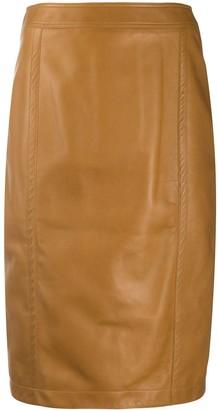 Saint Laurent Midi Pencil Skirt