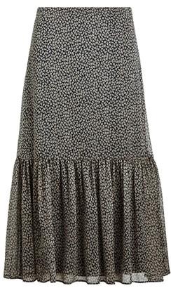 Ralph Lauren Print Georgette Tiered Skirt