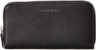 Givenchy Pandora Leather Zip Around Wallet