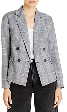 Aqua Glenn Plaid Double Breasted Button Front Blazer - 100% Exclusive
