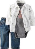Carter's 3-pc. Arrow Bodysuit Set - Baby Boys newborn-24m