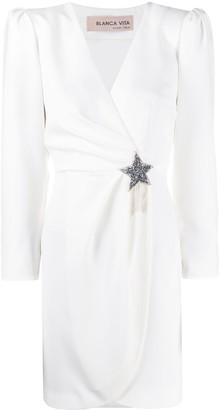 Blanca Vita Amanda star-brooch dress
