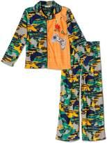 """Komar Kids Video Gamer """"Game On"""" 2 Piece Coat Style Pajama Set, Kids Size L(10/12)"""