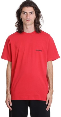 Vetements T-shirt In Red Cotton