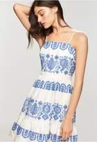 Milly Mykonos Embroidered Linen Mini Mila Dress