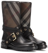 Burberry Knightslane leather-trimmed boots