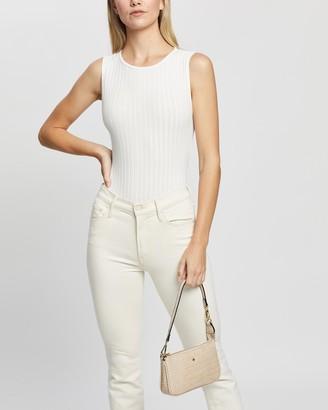TWIIN - Women's White Bodysuits - Rotate Rib Bodysuit - Size XS at The Iconic