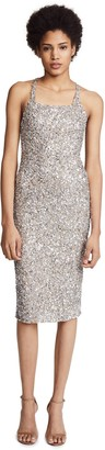 Parker Women's Sage Sleeveless Fitted Beaded Dress