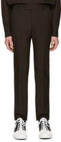 Marni Brown Wool Trousers