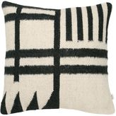 ferm LIVING Black Lines Kelim Accent Pillow