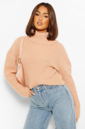 boohoo Cropped Roll Neck Jumper