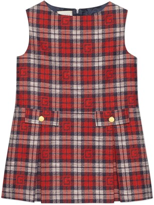 Gucci Children's Square G check dress