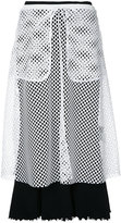 G.V.G.V. mesh layered ribbed jersey skirt - women - Cotton/Polyester - XS