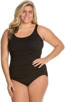 Penbrooke Plus Size Krinkle Empire Mio Chlorine Resistant One Piece Swimsuit 8122700