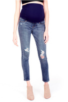 Ingrid & Isabel Distressed Maternity Jeans