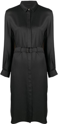 Peserico Belted Midi Shirt Dress