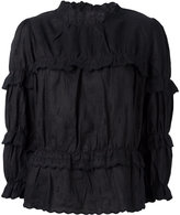 Etoile Isabel Marant Daniela high-neck blouse - women - Linen/Flax/Polyester - 38