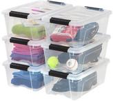 Iris Stack & Pull Modular Plastic Storage Totes