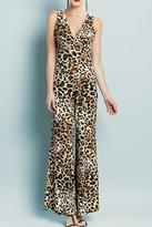 Clara Sunwoo Cheetah V-Neck Jumpsuit