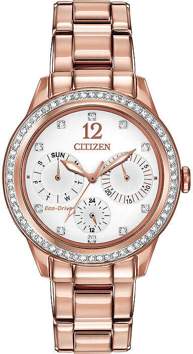 Citizen Eco-Drive Womens Rose-Tone Multifunction Watch FD2013-50A