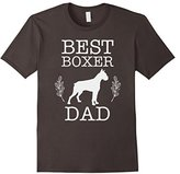 Men's Best Boxer Dad Shirt Father's Day Gift for Dog Lover Large