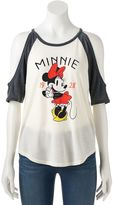 Disney's Minnie Mouse Juniors' Cold Shoulder Graphic Tee