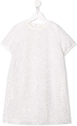 Brunello Cucinelli Kids embellished short sleeve dress