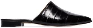 NewbarK black and ivory Ella two-tone leather mules