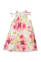 Gerson & Crystal Pleated Floral Float Dress (Toddler & Little Girls)