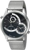 August Steiner Men's AS8168SSB Silver-Tone Stainless Steel Guilloche Watch