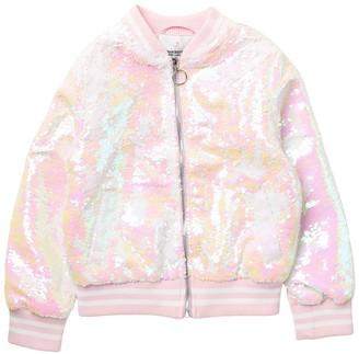 Urban Republic Flip Sequin Bomber Jacket (Big Girls)