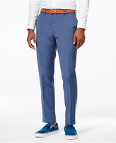 Bar III Men's Dusty Blue Solid Slim-Fit Pants, Only at Macy's