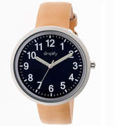 Simplify Unisex The 2600 Navy Dial Leather-Band Watch SIM2607