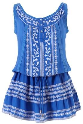 Melissa Odabash Jaz Embroidered Drop-Waist Dress