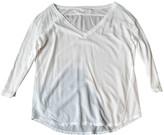 Velvet White Cotton Top for Women