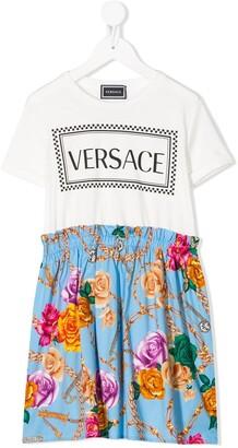 Versace T-shirt panelled dress