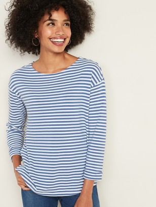 Old Navy French Terry Mariner-Stripe Rolled-Cuff Tee for Women