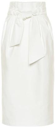 Gabriela Hearst Jordan belted cotton midi skirt