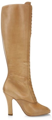 Miu Miu Lace-Up Leather Boots