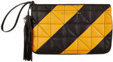 Sonia Rykiel Mustard Quilted Leather Zipped Pouch