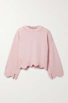 3.1 Phillip Lim - Scalloped Pointelle-knit Wool And Cashmere-blend Sweater - Pastel pink